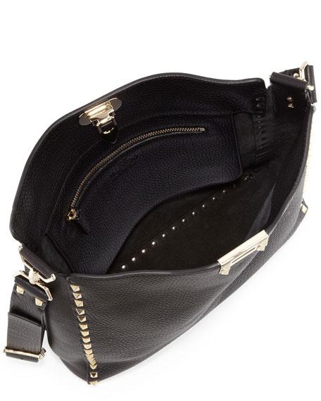 Valentino Garavani Rockstud Small Flip-Lock Hobo Bag