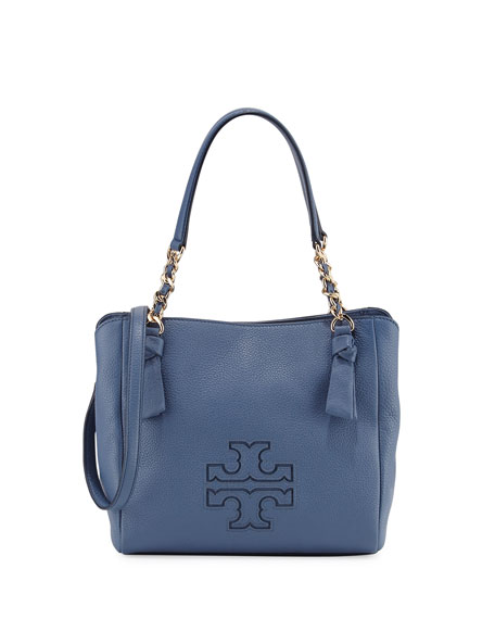 Tory Burch Harper Small Leather Satchel Bag | Neiman Marcus