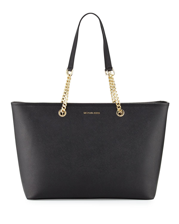 38b96984e7fb MICHAEL Michael Kors Jet Set Travel Medium Chain Leather Tote Bag ...