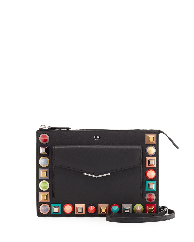 b5a5c7247d Fendi Mini Studded Crossbody Pouch | Neiman Marcus