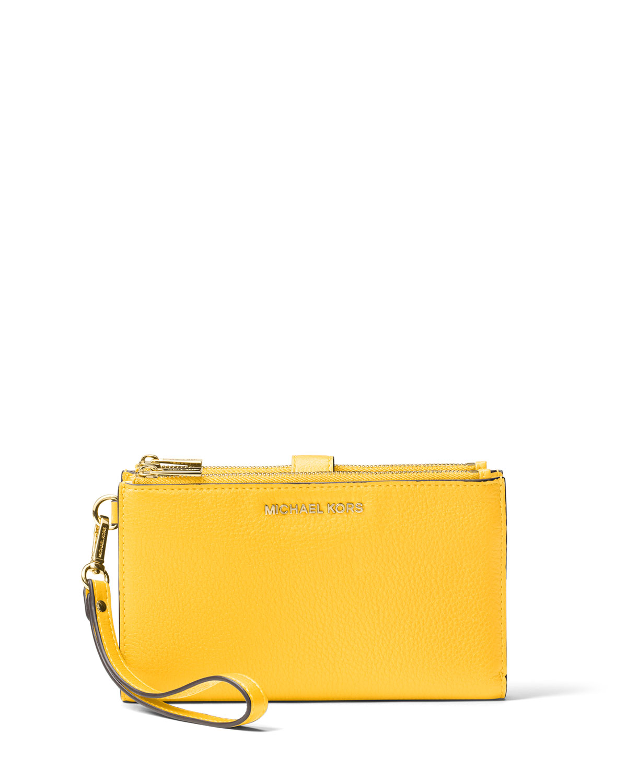 5c49e772943d MICHAEL Michael Kors Adele Double-Zip Smartphone Wristlet Wallet ...