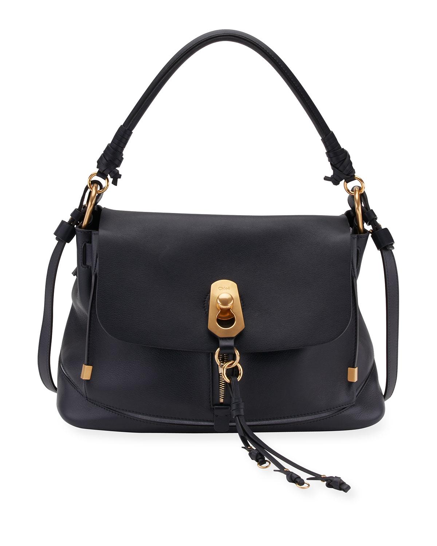 b7d4f71e6146 Chloe Owen Medium Leather Flap-Top Bag   Neiman Marcus