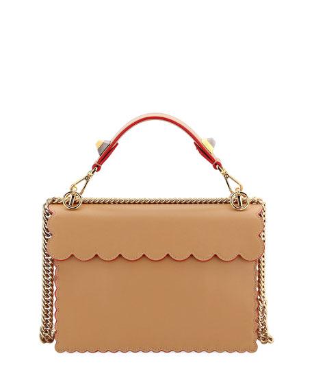 Kan I Regular Leather Scalloped Shoulder Bag