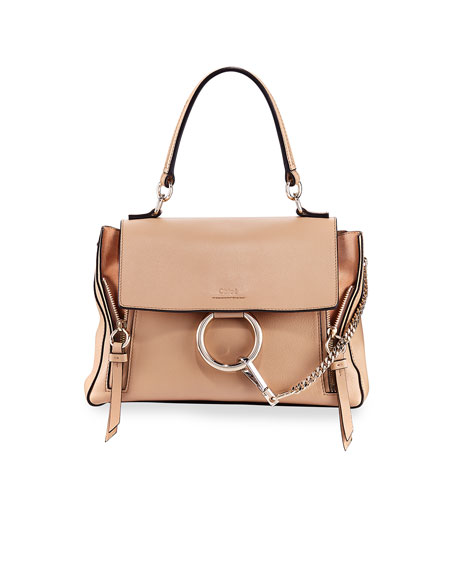 eec7489c85c Chloe Faye Day Small Pebbled Ring Shoulder Bag | Neiman Marcus