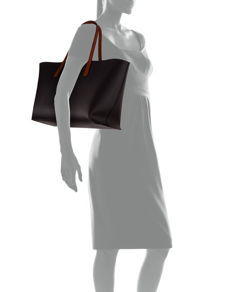 GV Medium Smooth Leather Shopper Tote Bag