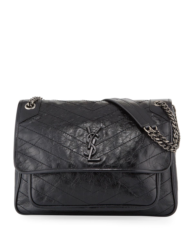 Saint Laurent Niki Monogram Ysl Large Flap Shoulder Bag