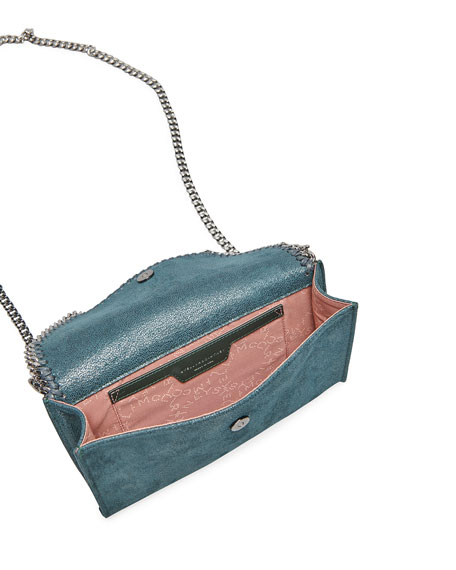 Image 3 of 4: Stella McCartney Falabella Mini Shaggy Deer Wallet on Chain