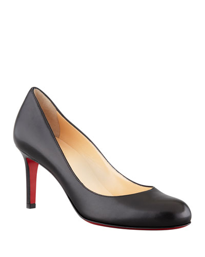Simple Leather Red Sole Pumps