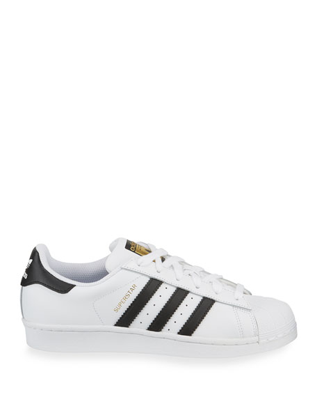 Image 4 of 6: Adidas Superstar Classic Sneakers, Black/White