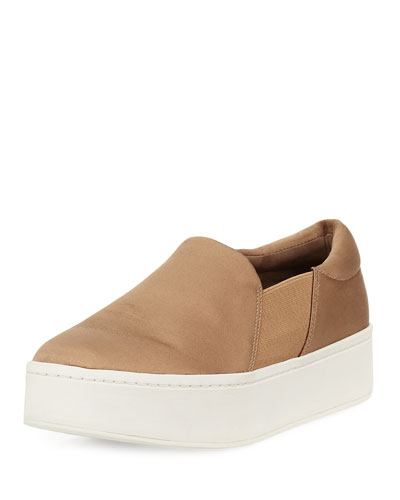 Warren Satin Platform Sneakers