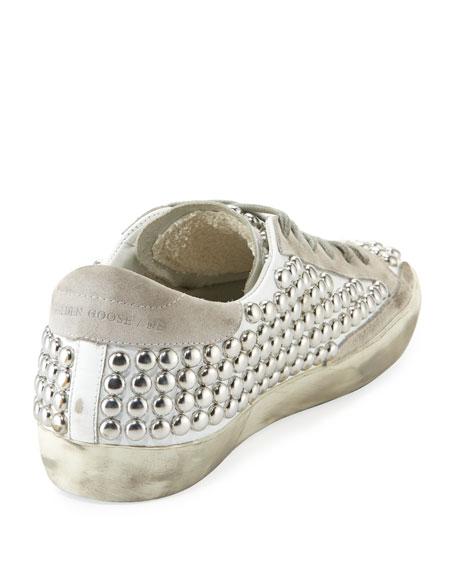 Golden Goose Superstar Old Studded Low-Top Sneaker, White