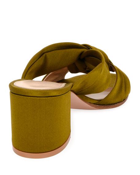 Twisted Satin 60mm Sandal