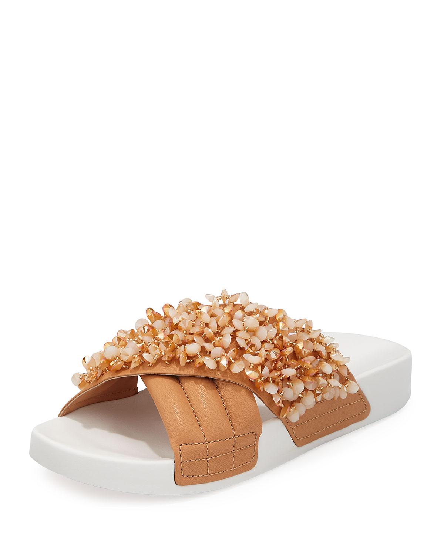 9915dee661c7 Tory Burch Logan Embellished Pool Sandals