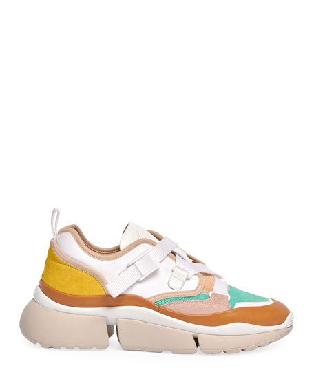 Image 3 of 4: Sonnie Multicolor Buckle Sneakers