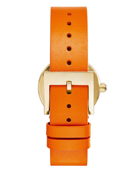 28mm Reva Leather-Strap Watch