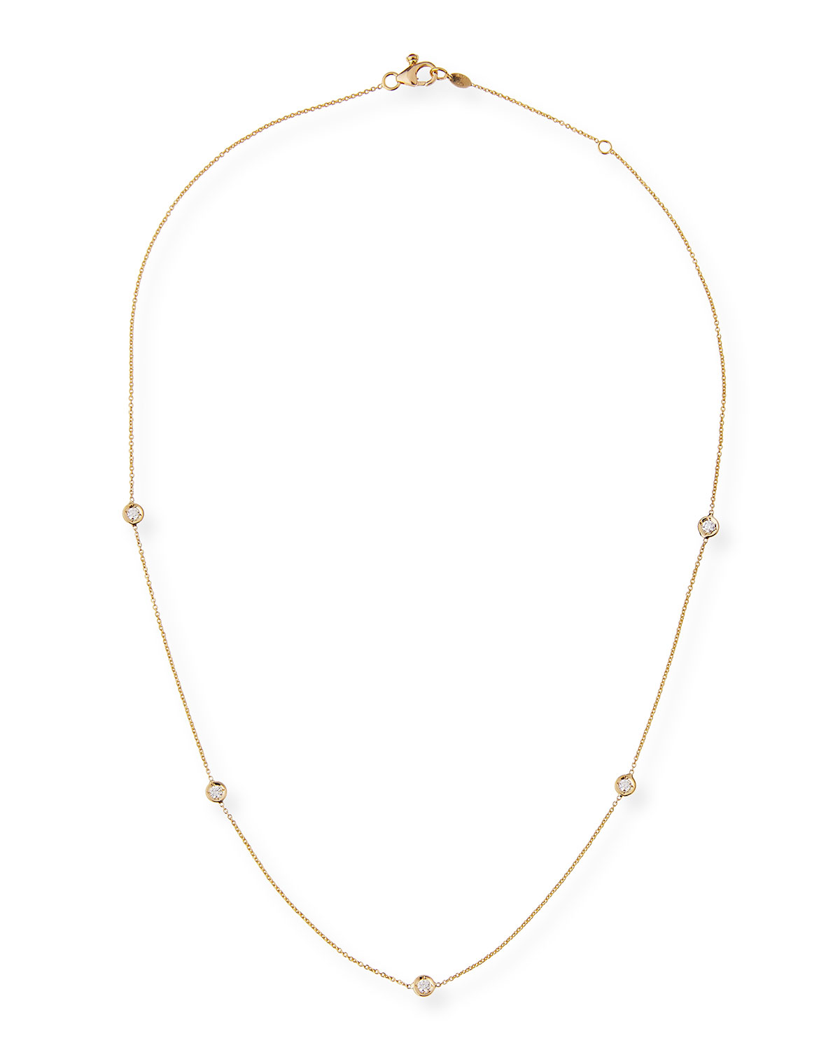 Carelle 18k Gold Collar Necklace with Diamonds Xgbws