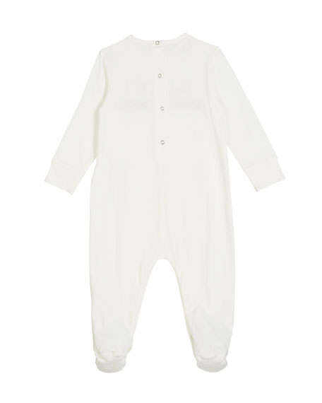 Image 2 of 2: Long-Sleeve Logo Footie Pajamas, Size 0-9 Months