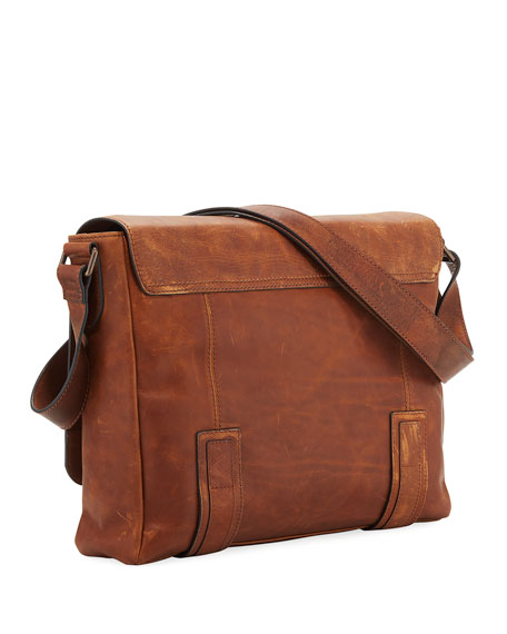 Image 3 of 3: Frye Logan Flap Messenger Bag