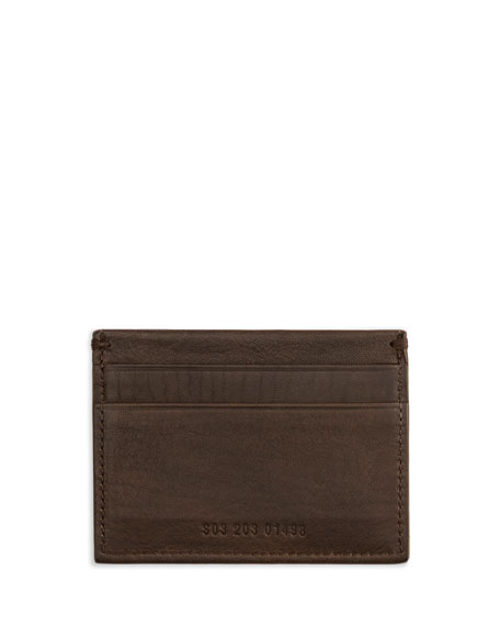 Five-Pocket Leather Card Case