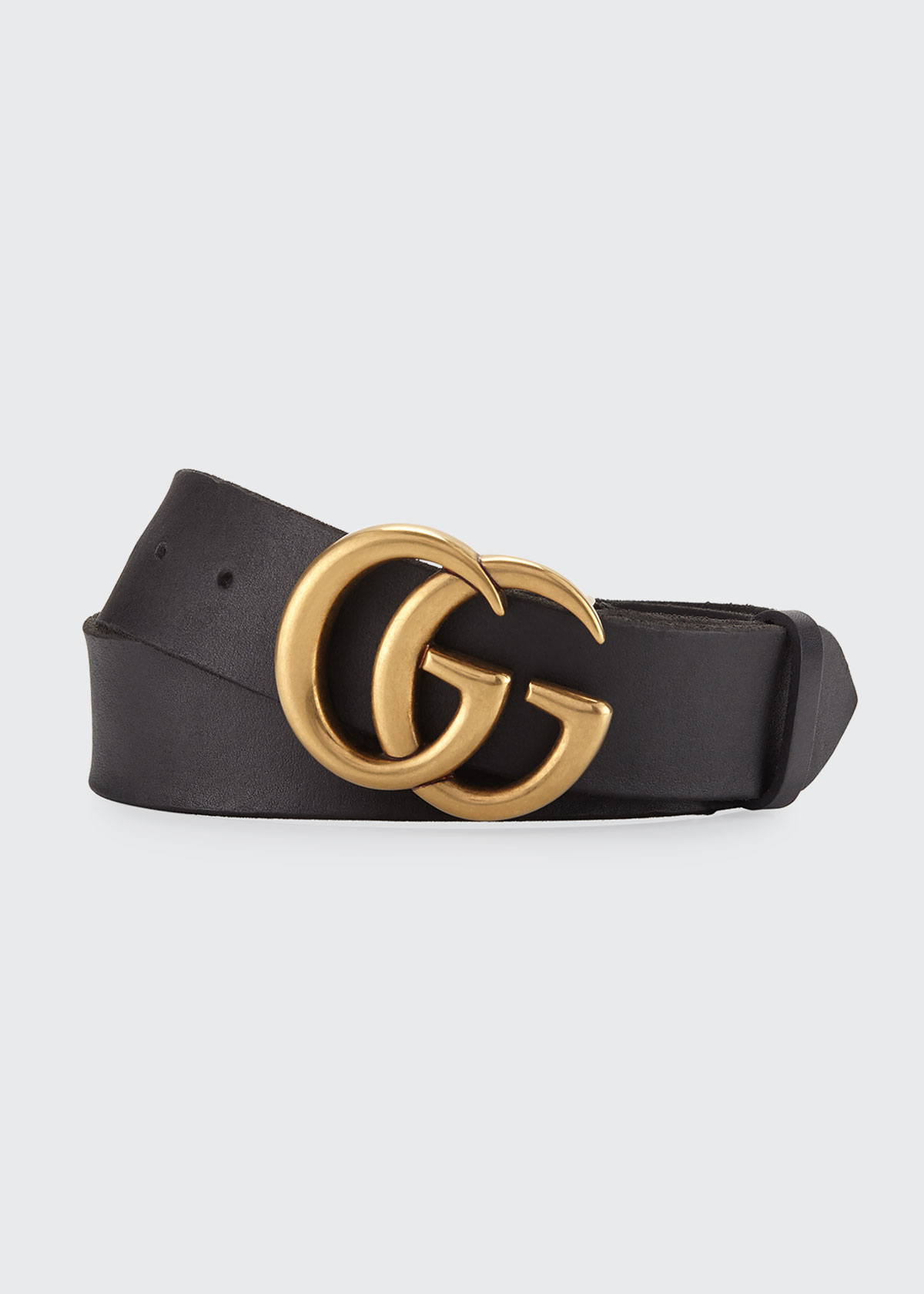 21ccfdffc5c58 Gucci Men s Leather Belt with Double-G Buckle