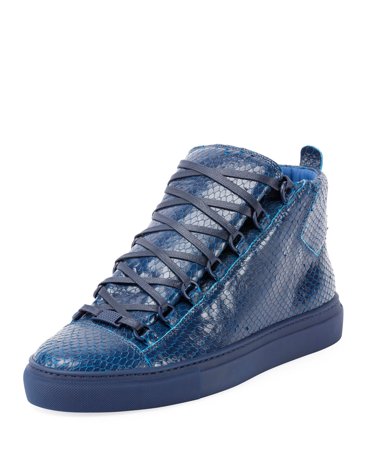 a0c833af5a2d Balenciaga Men s Arena Faux-Python Leather High-Top Sneaker
