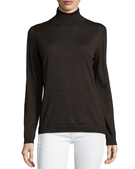 Lafayette 148 New York Fine-Gauge Merino Turtleneck
