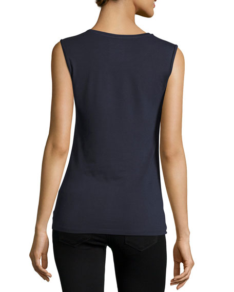 Majestic Paris for Neiman Marcus Soft Touch Sleeveless Crew