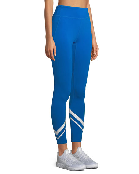 Image 3 of 4: Tory Sport Chevron Full-Length Performance Leggings