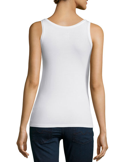 Image 3 of 5: Majestic Filatures Soft Touch Scoop-Neck Tank