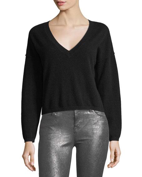 J Brand Josey Deep V Cashmere Sweater Neiman Marcus