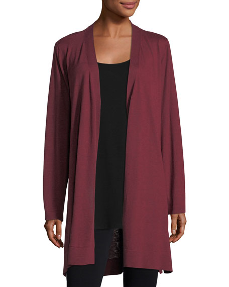 Eileen Fisher Belted Simple Cardigan