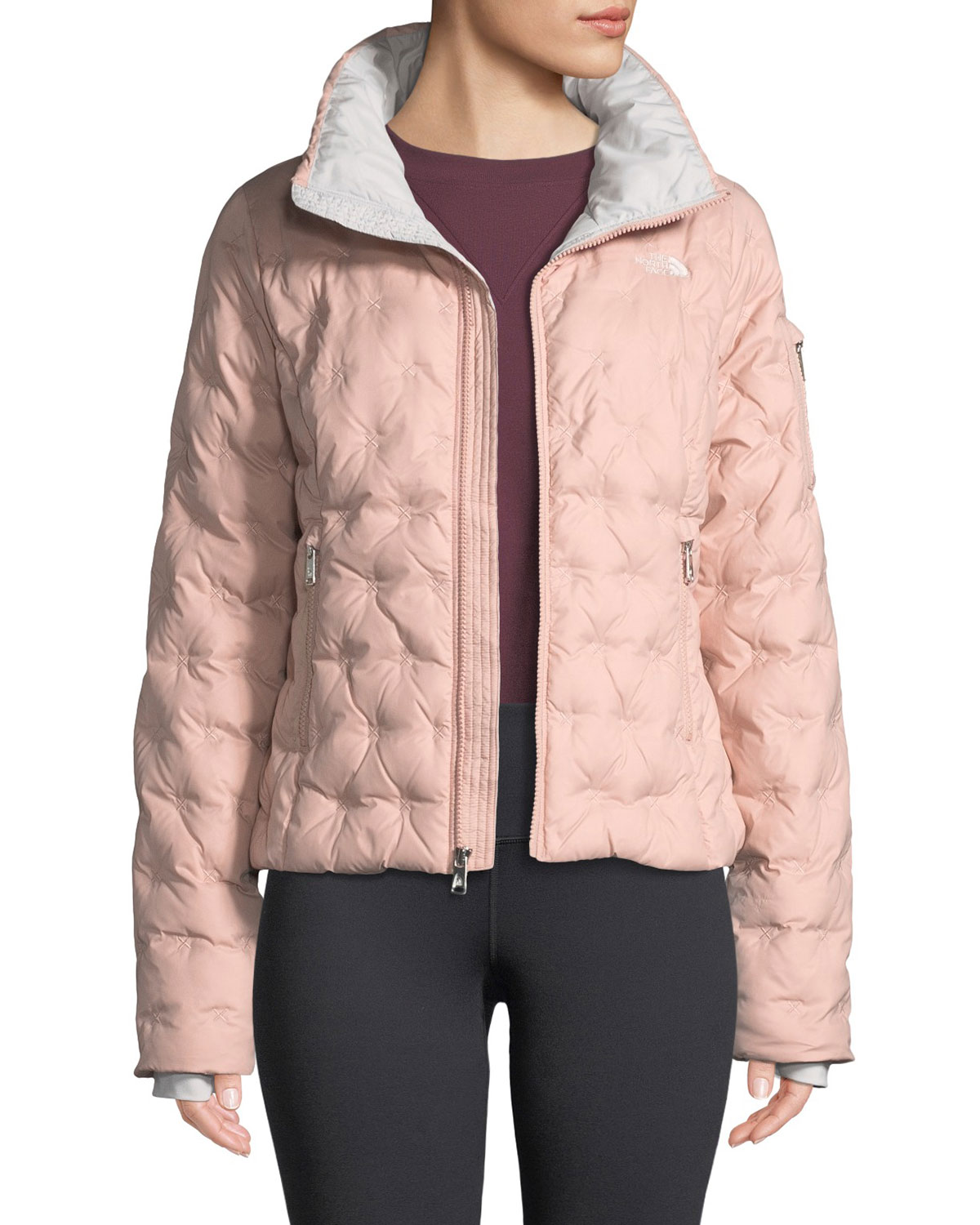 The North Face Holladown Pintuck-Quilted Crop Jacket | Neiman Marcus