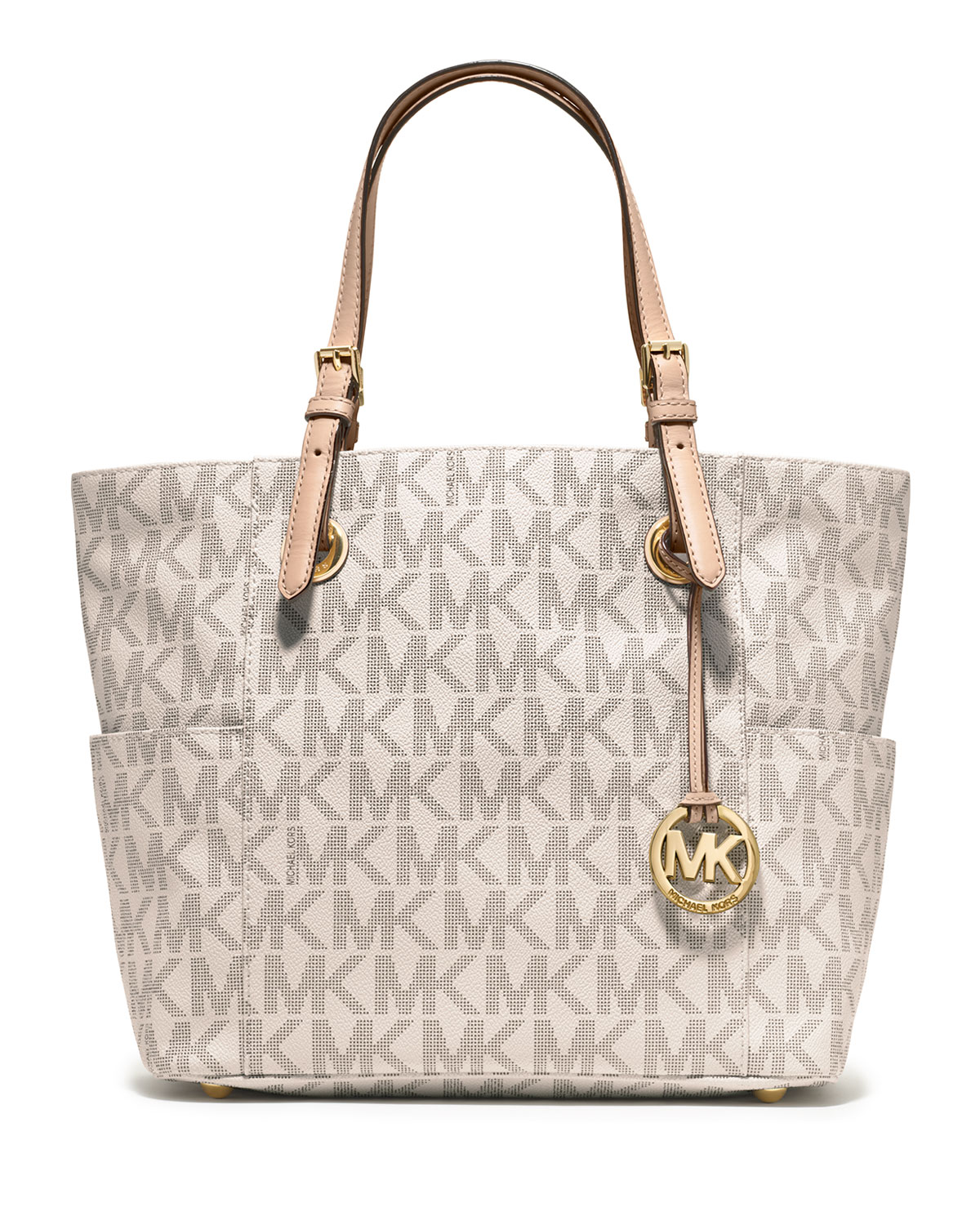 527cd46501a8 MICHAEL Michael Kors Jet Set Logo Monogram Item Tote Bag | Neiman Marcus