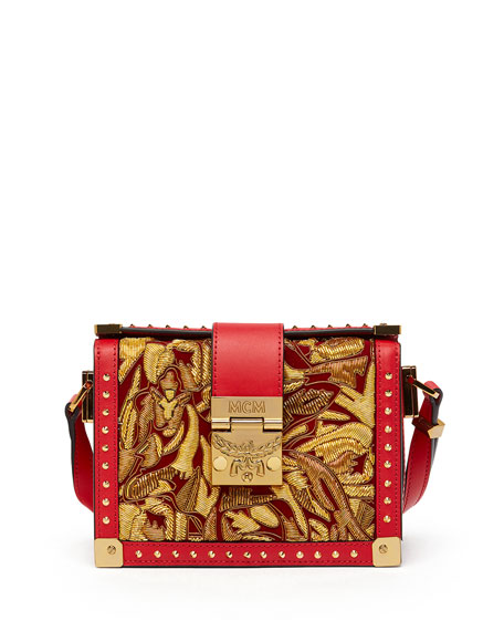 Mitte Mini Brocade Crossbody Clutch Bag