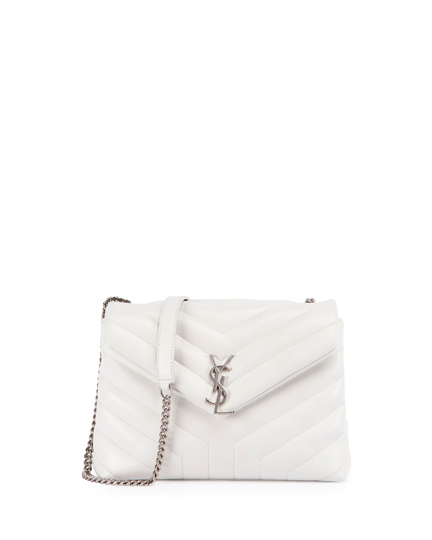 57a58470de Saint Laurent Loulou Monogram Small Y-Quilted Chain Shoulder Bag ...