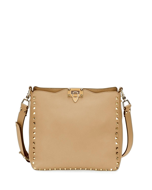 Valentino Garavani Rockstud Small Hobo Bag  b07faafe26a0e