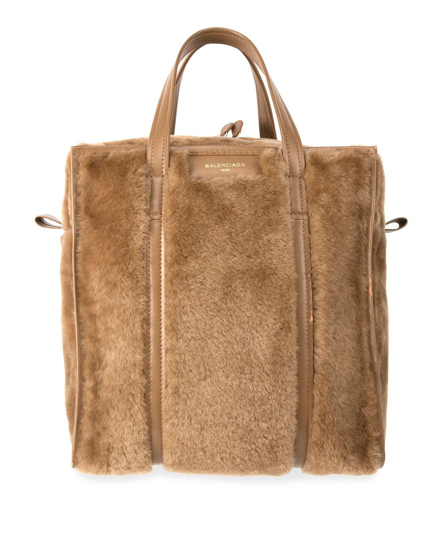 b692f810982d Balenciaga Bazar Shopper Large Shearling Fur Bag