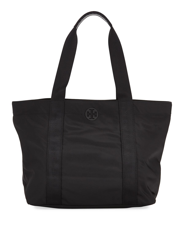 b6539d8190a Tory Burch Quinn Large Zip-Top Nylon Tote Bag