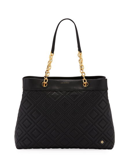 be769b2569f Tory Burch Fleming Quilted Leather Tote Bag