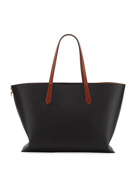 Givenchy GV Medium Smooth Leather Shopper Tote Bag