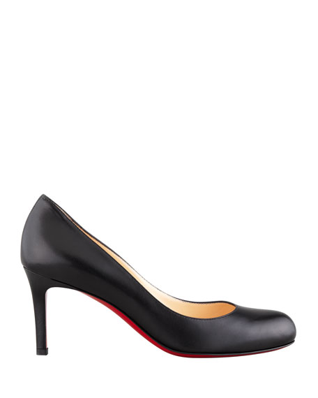 watch 7261c 51ee0 Simple Leather Red Sole Pumps