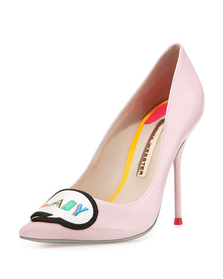 Boss Lady Patent Leather Pump, Baby Pink