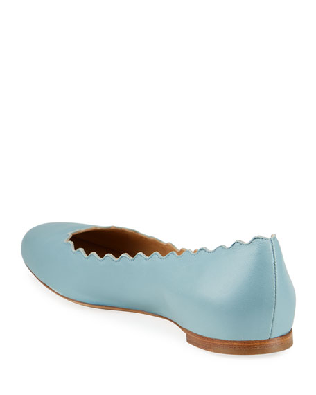 Lauren Scalloped Leather Ballet Flat