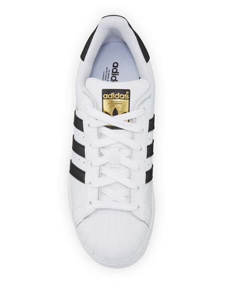 Image 3 of 6: Adidas Superstar Classic Sneakers, Black/White