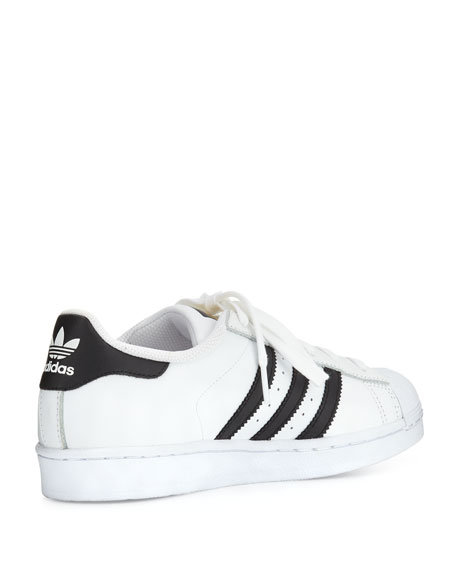 Image 5 of 6: Adidas Superstar Classic Sneakers, Black/White