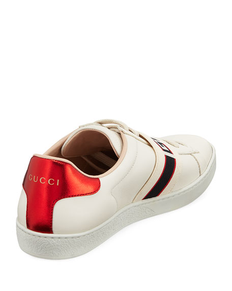 Gucci New Ace Gucci Band Leather Sneaker