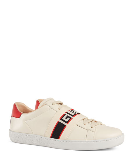 Gucci Sneakers New Ace Gucci Band Leather Sneaker
