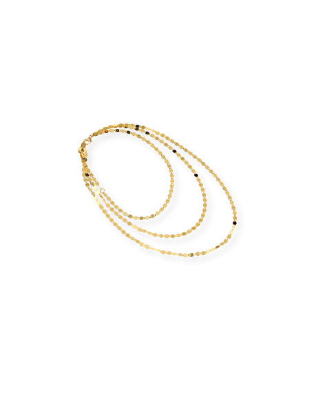 14K Gold Nude Stiletto Anklet Chain