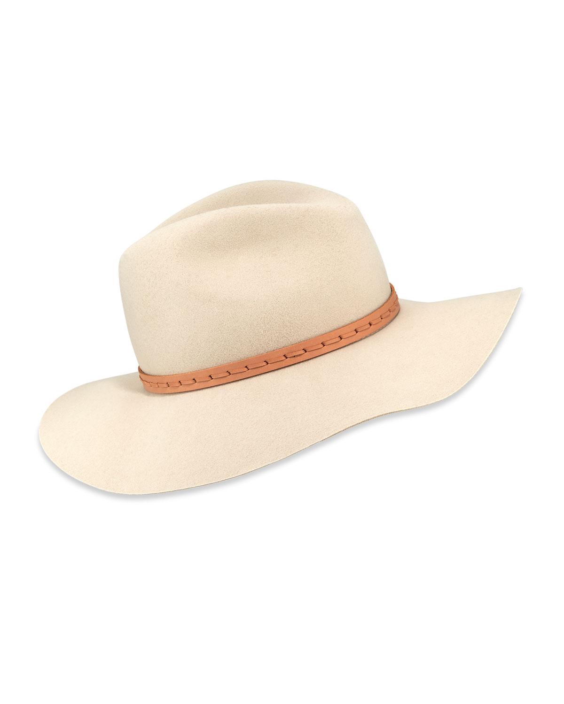 Rag   Bone Wool Felt Wide-Brim Fedora Hat  b9a7872b512