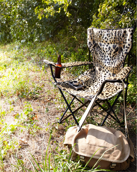 Missoni Home Ambrogina Folding Chair In Printed Satin: Leopard-Print Folding Chair
